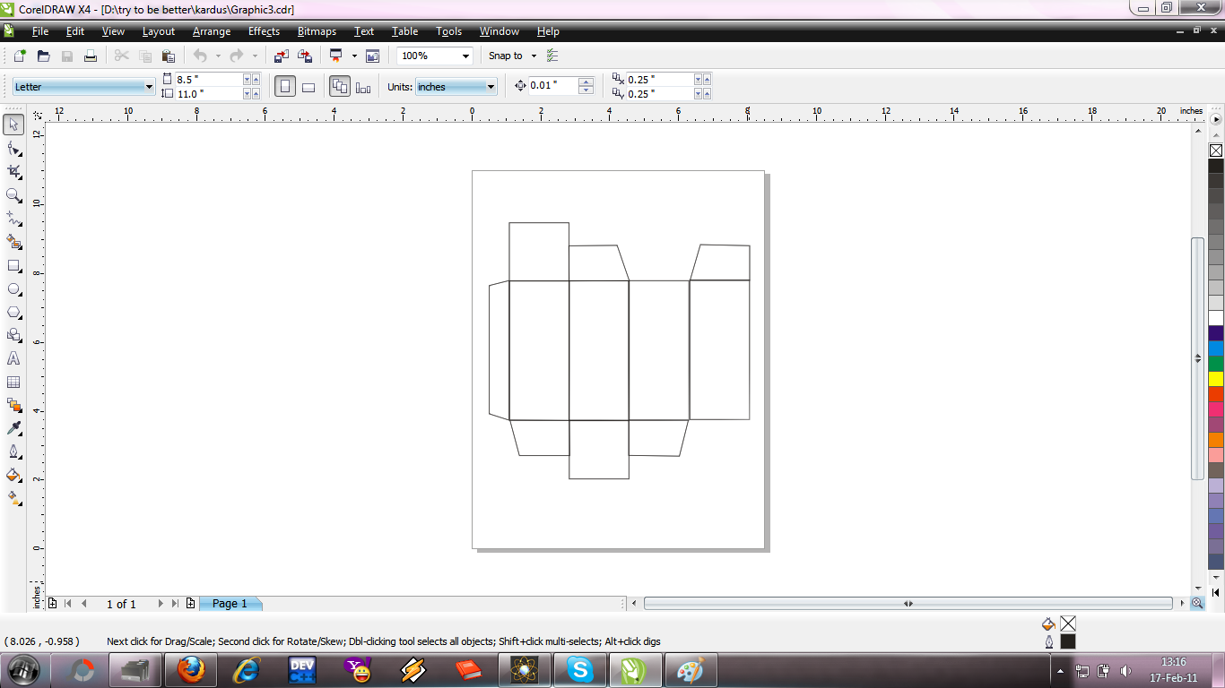 Membuat Design Kardus Obat Dengan Corel Draw T H A N T I B L O G